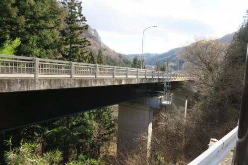 Beautiful bridge passed by in Kuni District