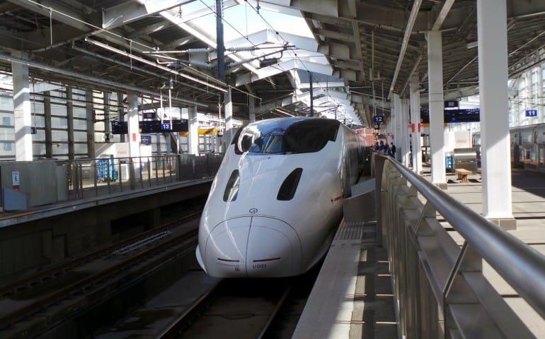 Kyushu Shinkansen from Fukuoka to Izumi