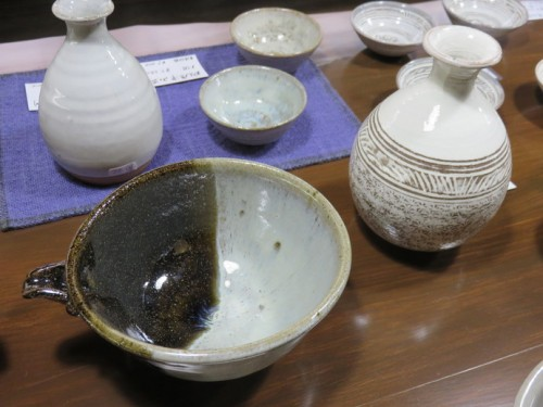 Karatsu ceramics for Sake