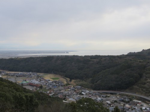 The view from the top of Yutoku Inari Shrine