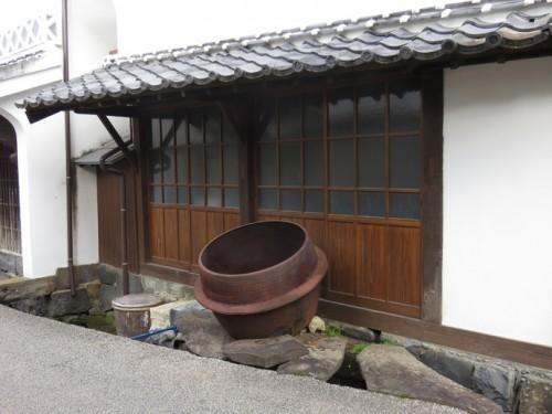sake pot outside
