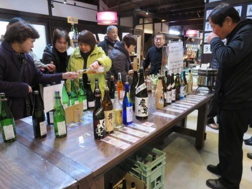 sake tasting in hizenhama
