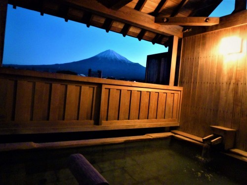 Mount Fuji from Ogawaso's rotemburo