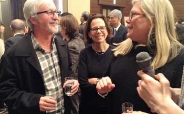 Dana cowin, Robert and Marina sinskey were talking about sake.