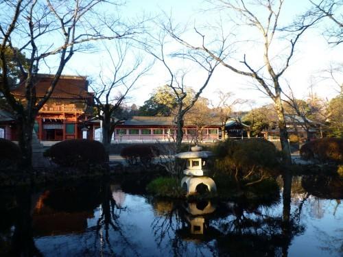 A beautiful japanese garden of sengen shrine
