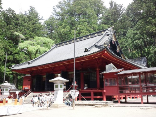 One of the buildings in the Futarasan Shrine complex