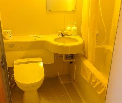 The western style bathroom in Japanese Inn