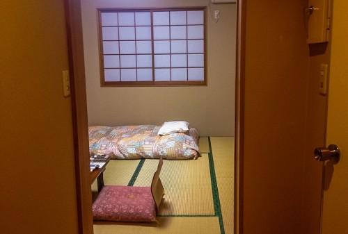 A traditional room in the B&B in Nikko