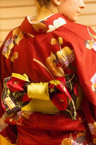 Wearing Japanese traditional costume, Kimono