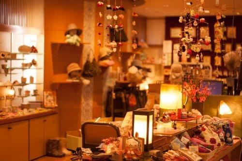 The gift shop at Yahata-ya ryokan