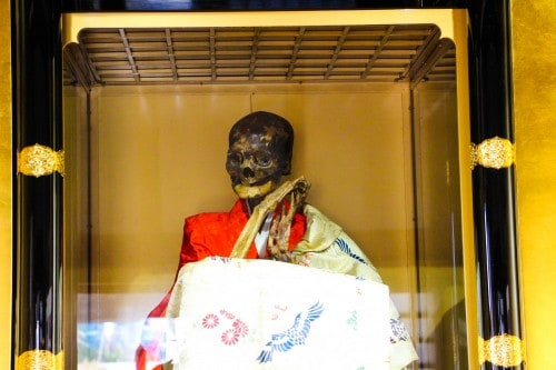 Sokushinbutus refers to the practice of self-mummification that was followed by a mountainous dwelling sect of Buddhist monks who were called Shugen-do.
