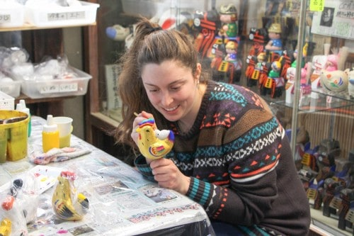 Paint your own doll in Fukushima prefecture