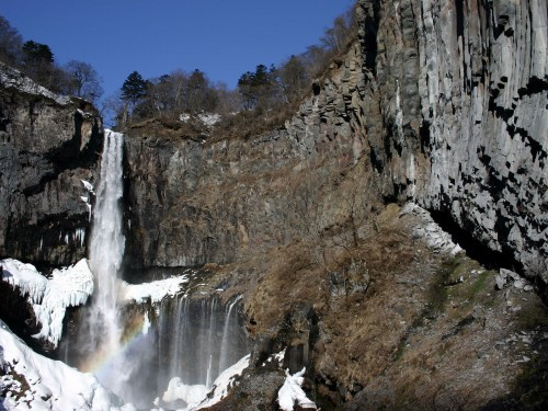Another gorgeous angle of Kegon Falls in Nikko, Japan