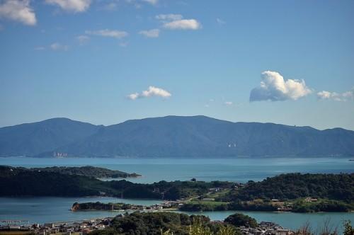 Seto Inland sea from Ushimado Olive Villa in Okayama prefecture