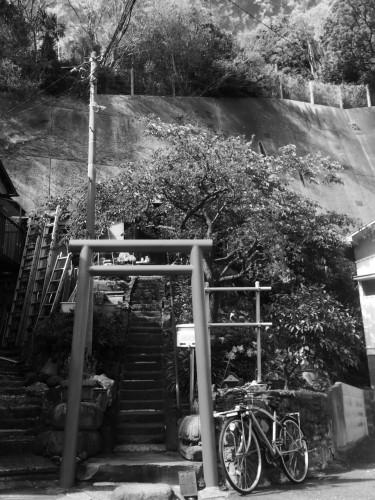 A Small Shinto Shrine Near Sankeien Garden