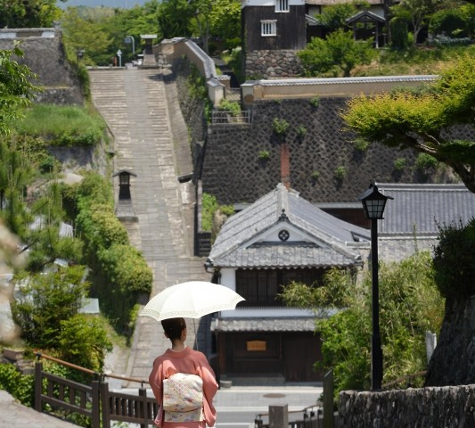 Kitsuki old castle town is in Oita prefecture, Kyushu.
