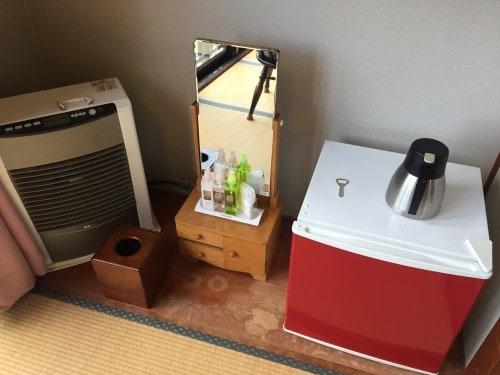 Many amenities at the ryokan in Takayu onsen,Fukushima, Japan.