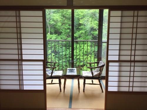 My Room at the ryokan in Takayu onsen,Fukushima, Japan.