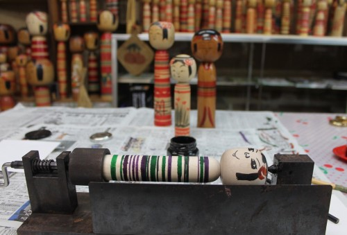Create your own Kokeshi at Tsuchiyu Onsen Village, Fukushima, Japan.