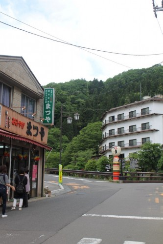 Matsuya Bussan is a kokeshi store in the heart of Tsuchiyu Onsen.