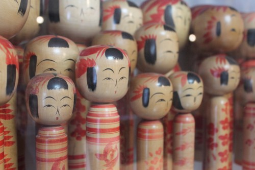 Kokeshi is Japanese traditional doll.