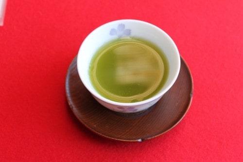 Green Tea at Jorakuen Japanese Garden, Fukushima, Japan.