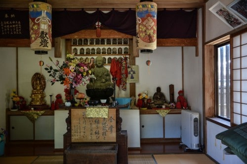 Temple interior in Murakami