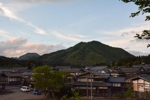 Takane Sonnenuntergang, Niigata, Japan