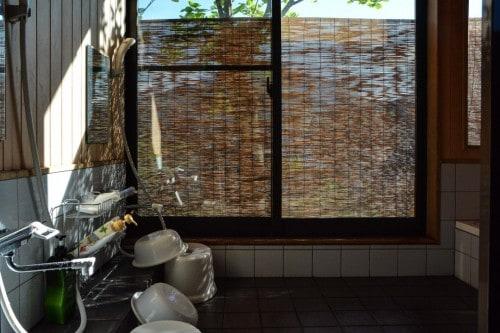 Minshuku traditionelles Badezimmer, Takane, Niigata, Japan