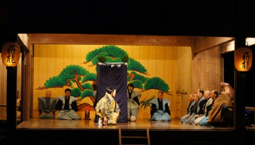 Sado island is deeply rooted in the tradition of the Noh performance, a form of classical Japanese theater combining dance and poetry with music, Niigata, Japan.