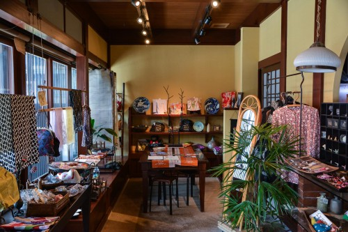 Kimono shop in Hida furukawa, Gifu prefecture