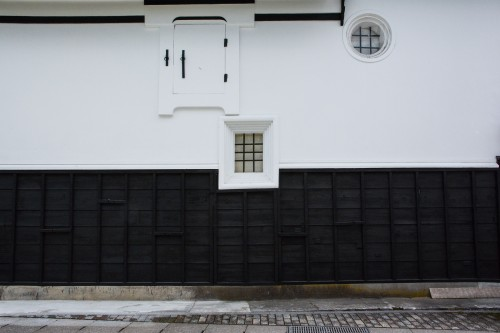 The white wall architecture in Hida Furukawa