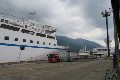 The ferry which goes to Yakushima island, Kagoshima.