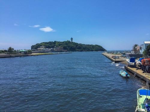 Enoshima, a historical island close to Tokyo and Kamakura, Japan.