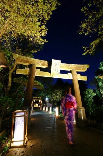 Enoshima lantern festival in summer, Fujisawa city , Japan.