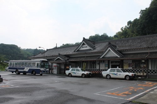 Entrance to JR Bungotaketa Station, Oita prefecture, Kyushu, Japan.