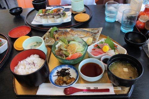 Japanese food where we stayed, Fukui prefecture