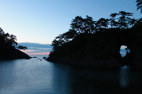 Meikyodo Höhle Ein Symbol von Wakasa Takahama, Fukui, Japan