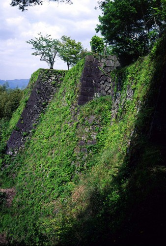 Oka castle ruins in Taketa, Oita prefecture, Kyushu, Japan.