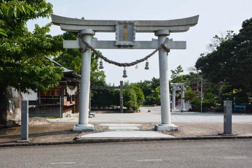 the torii gate of Kagamiyama shrine, Saga