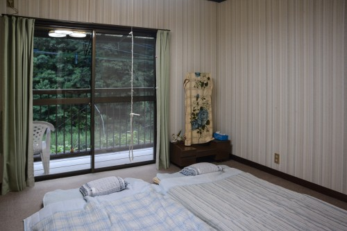 Japanese Style Traditional Rooms at the Guesthouse in Saiki city, Oita prefecture, Kyushu.
