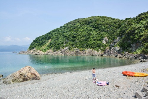 The beach at Cat island Fukashima, Oita prefecture, Kyushu.