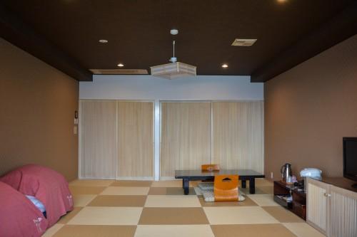 The Hotel Sanyokan Hina-no-Sato in Hita city, Oita prefecture, Japan.