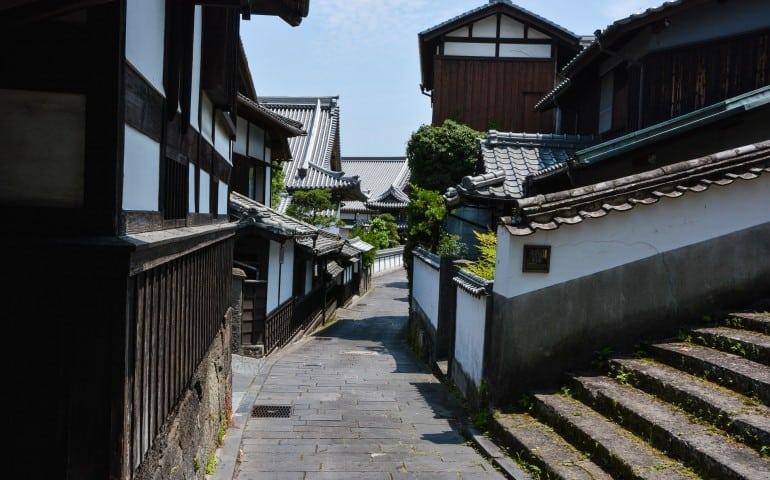 Usuki's samurai residence area, Oita prefecture, Kyushu, Japan.