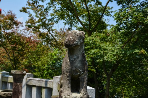 An old inari statue found at Yutoku inari shrine, Saga, Kyushu.