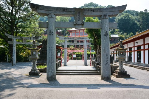 The torii gate of Yutoku inari shrine, One of the Three Largest Shrines Dedicated to Inari in Japan.