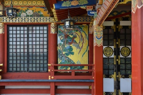 The colourful decoration where I found at Yutoku inari shrine, Saga, Kyushu.