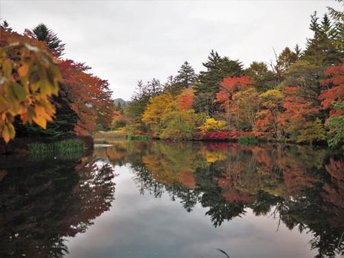 Kumoba Pond, Karuizawa, Japan.