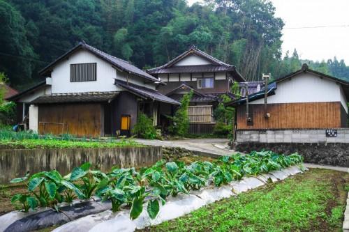 "the farmer's homestay 'Kominka ""Gallery"" Minka 'in Usa city, Oita prefecture, Kyushu, Japan."