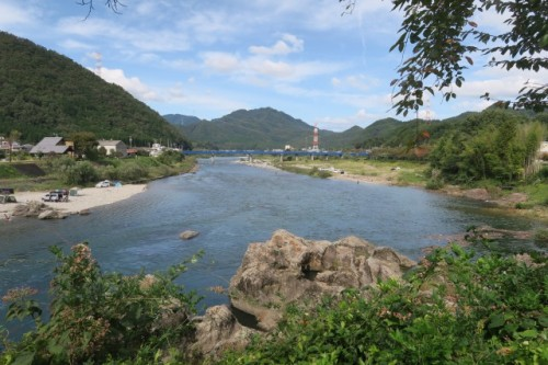 the historical town, Mino city in Gifu prefecture, Japan.
